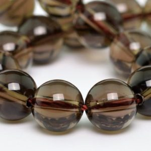 "6MM Smoky Quartz Beads Grade AAA Genuine Natural Gemstone Half Strand Round Loose Beads 7.5"" BULK LOT 1,3,5,10 and 50 (100658h-307) 