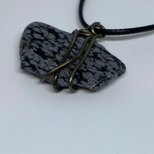 Shop Snowflake Obsidian Necklaces! Snowflake Obsidian Necklace | Natural genuine Snowflake Obsidian necklaces. Buy crystal jewelry, handmade handcrafted artisan jewelry for women.  Unique handmade gift ideas. #jewelry #beadednecklaces #beadedjewelry #gift #shopping #handmadejewelry #fashion #style #product #necklaces #affiliate #ad