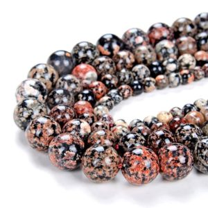 Shop Snowflake Obsidian Beads! Mexican Red Snowflake Obsidian Gemstone Grade Aaa Round 4mm 6mm 8mm 10mm Loose Beads (d7) | Natural genuine beads Snowflake Obsidian beads for beading and jewelry making.  #jewelry #beads #beadedjewelry #diyjewelry #jewelrymaking #beadstore #beading #affiliate #ad