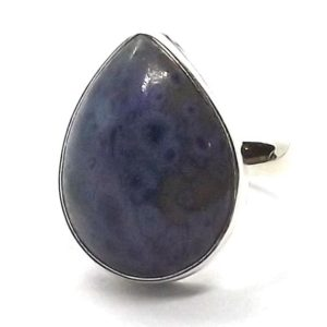 Shop Dumortierite Rings! Sobber Dumortierite ring – solid silver Ring – Dumortierite sterling Silver Jewelry – Awesome Jewelry – Artisan jewelry – Natural stone ring | Natural genuine Dumortierite rings, simple unique handcrafted gemstone rings. #rings #jewelry #shopping #gift #handmade #fashion #style #affiliate #ad