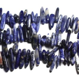 Shop Sodalite Chip & Nugget Beads! 10pc – stone beads – seed sticks 14-25mm 4558550035646 Sodalite Chips | Natural genuine chip Sodalite beads for beading and jewelry making.  #jewelry #beads #beadedjewelry #diyjewelry #jewelrymaking #beadstore #beading #affiliate #ad