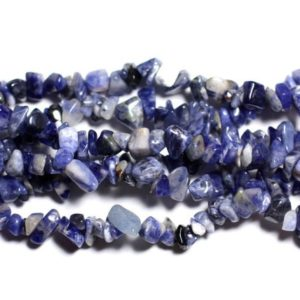Shop Sodalite Chip & Nugget Beads! Thread 250pc approx 89cm – beads of stone – Sodalite Chips 5-10mm beads | Natural genuine chip Sodalite beads for beading and jewelry making.  #jewelry #beads #beadedjewelry #diyjewelry #jewelrymaking #beadstore #beading #affiliate #ad