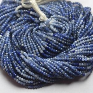 Shop Sodalite Faceted Beads! 13 Inches Strand,Finest Quality,Natural Blue Sodalite Faceted Rondelles,Size.2.5mm | Natural genuine faceted Sodalite beads for beading and jewelry making.  #jewelry #beads #beadedjewelry #diyjewelry #jewelrymaking #beadstore #beading #affiliate #ad