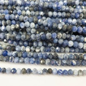 Shop Sodalite Faceted Beads! small sodalite rondelle beads – blue faceted gemstone abacus beads – stone spacer beads wholesale – jewelry making components -faceted stone | Natural genuine faceted Sodalite beads for beading and jewelry making.  #jewelry #beads #beadedjewelry #diyjewelry #jewelrymaking #beadstore #beading #affiliate #ad
