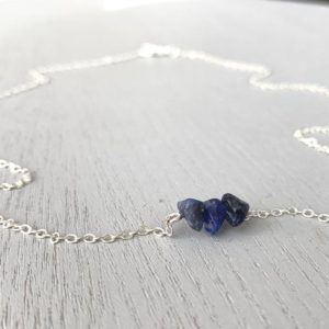 Shop Sodalite Necklaces! Sodalite Stone Necklace – Sodalite Jewelry – Third Eye Necklace – Clarity Necklace – Blue Crystal Necklace – Crystal Gift- Sodalite Necklace | Natural genuine Sodalite necklaces. Buy crystal jewelry, handmade handcrafted artisan jewelry for women.  Unique handmade gift ideas. #jewelry #beadednecklaces #beadedjewelry #gift #shopping #handmadejewelry #fashion #style #product #necklaces #affiliate #ad