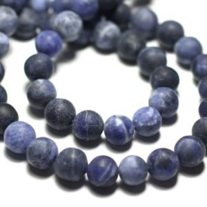 Shop Sodalite Bead Shapes! Wire 39cm 45pc env – beads of stone – Sodalite blue black balls 8 mm matte Frost sand | Natural genuine other-shape Sodalite beads for beading and jewelry making.  #jewelry #beads #beadedjewelry #diyjewelry #jewelrymaking #beadstore #beading #affiliate #ad