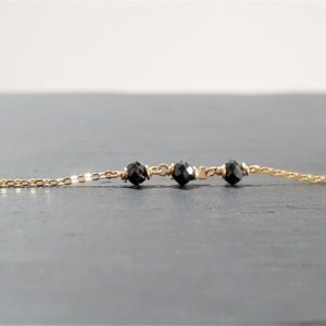 Shop Spinel Bracelets! Dainty Black Spinel Anklet, August Birthstone / Handmade Jewelry / Spinel Ankle Bracelet, Black Gemstone Anklet, Stacked Anklet, Minimalist | Natural genuine Spinel bracelets. Buy crystal jewelry, handmade handcrafted artisan jewelry for women.  Unique handmade gift ideas. #jewelry #beadedbracelets #beadedjewelry #gift #shopping #handmadejewelry #fashion #style #product #bracelets #affiliate #ad