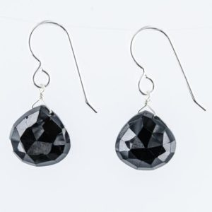 Shop Spinel Earrings! Black Spinel Earrings, Sterling Silver Dangle Black Earrings, Birthday Gifts for Her | Natural genuine Spinel earrings. Buy crystal jewelry, handmade handcrafted artisan jewelry for women.  Unique handmade gift ideas. #jewelry #beadedearrings #beadedjewelry #gift #shopping #handmadejewelry #fashion #style #product #earrings #affiliate #ad