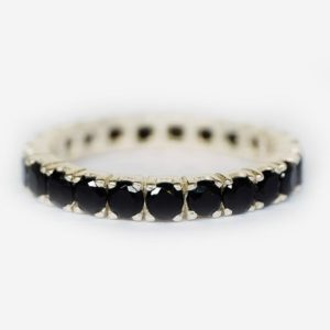 black spinel wedding band, 14k eternity band, full eternity stacking rings, gemstone stackable band, engagement ring, spinal stacking rings | Natural genuine Array rings, simple unique alternative gemstone engagement rings. #rings #jewelry #bridal #wedding #jewelryaccessories #engagementrings #weddingideas #affiliate #ad