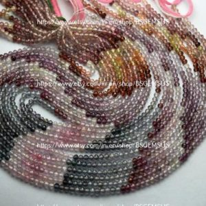 Shop Spinel Rondelle Beads! 13 Inches Strand,AAA Quality,Natural Multi Spinel Micro Facetes Rondelle,Size 3mm | Natural genuine rondelle Spinel beads for beading and jewelry making.  #jewelry #beads #beadedjewelry #diyjewelry #jewelrymaking #beadstore #beading #affiliate #ad