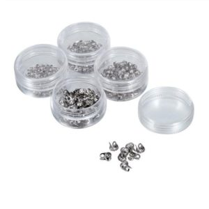 Shop Bead Tips & Knot Covers! Stainless Steel Clam Shell End Tip, Knot Cover Bead Tip, 4-8 mm Fold Over Cap, Hide End Knot Ball, Two Double Closed Loops, Jewelry Making | Shop jewelry making and beading supplies, tools & findings for DIY jewelry making and crafts. #jewelrymaking #diyjewelry #jewelrycrafts #jewelrysupplies #beading #affiliate #ad
