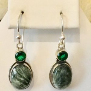 Shop Seraphinite Jewelry! Sterling Silver Russian Seraphinite Earrings       409 | Natural genuine Seraphinite jewelry. Buy crystal jewelry, handmade handcrafted artisan jewelry for women.  Unique handmade gift ideas. #jewelry #beadedjewelry #beadedjewelry #gift #shopping #handmadejewelry #fashion #style #product #jewelry #affiliate #ad