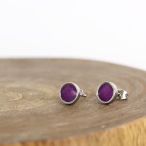 Shop Sugilite Earrings! Sugilite Earrings – Purple Studs – Purple Earrings – Sugilite Jewelry | Natural genuine Sugilite earrings. Buy crystal jewelry, handmade handcrafted artisan jewelry for women.  Unique handmade gift ideas. #jewelry #beadedearrings #beadedjewelry #gift #shopping #handmadejewelry #fashion #style #product #earrings #affiliate #ad