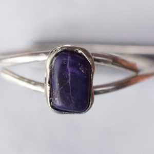 Shop Sugilite Rings! Sugilite Ring | Natural genuine Sugilite rings, simple unique handcrafted gemstone rings. #rings #jewelry #shopping #gift #handmade #fashion #style #affiliate #ad