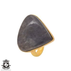 Shop Sugilite Rings! Size 10.5 – Size 12 Adjustable Sugilite 24K Gold Plated Ring GPR1113 | Natural genuine Sugilite rings, simple unique handcrafted gemstone rings. #rings #jewelry #shopping #gift #handmade #fashion #style #affiliate #ad