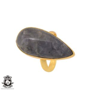 Shop Sugilite Rings! Size 10.5 – Size 12 Adjustable Sugilite 24K Gold Plated Ring GPR1103 | Natural genuine Sugilite rings, simple unique handcrafted gemstone rings. #rings #jewelry #shopping #gift #handmade #fashion #style #affiliate #ad