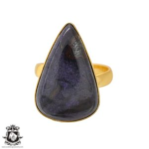 Shop Sugilite Rings! Size 7.5 – Size 9 Adjustable Sugilite 24K Gold Plated Ring GPR1109 | Natural genuine Sugilite rings, simple unique handcrafted gemstone rings. #rings #jewelry #shopping #gift #handmade #fashion #style #affiliate #ad