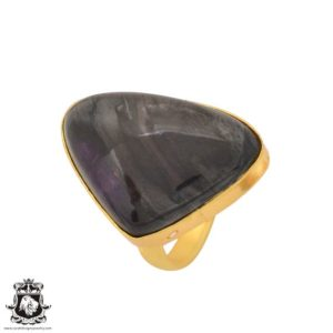 Shop Sugilite Rings! Size 8.5 – Size 10 Adjustable Sugilite 24K Gold Plated Ring GPR1107 | Natural genuine Sugilite rings, simple unique handcrafted gemstone rings. #rings #jewelry #shopping #gift #handmade #fashion #style #affiliate #ad