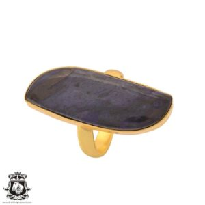 Shop Sugilite Rings! Size 9.5 – Size 11 Adjustable Sugilite 24K Gold Plated Ring GPR1118 | Natural genuine Sugilite rings, simple unique handcrafted gemstone rings. #rings #jewelry #shopping #gift #handmade #fashion #style #affiliate #ad