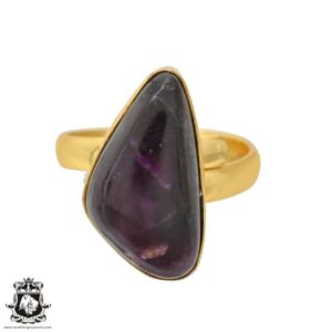 Shop Sugilite Rings! Size 9.5 – Size 11 Adjustable Sugilite 24K Gold Plated Ring GPR1110 | Natural genuine Sugilite rings, simple unique handcrafted gemstone rings. #rings #jewelry #shopping #gift #handmade #fashion #style #affiliate #ad