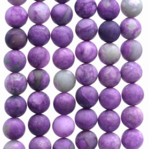 Shop Sugilite Beads! 8mm Matte Sugilite Gemstone Round Loose Beads 15 Inch Full Strand (80002208-m13) | Natural genuine round Sugilite beads for beading and jewelry making.  #jewelry #beads #beadedjewelry #diyjewelry #jewelrymaking #beadstore #beading #affiliate #ad