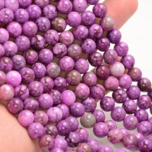 SALE PRICE + Free USA Ship Purple Sugilite Gemstone Round 4mm 6mm 8mm 10mm 12mm Grade Aa | Natural genuine round Sugilite beads for beading and jewelry making.  #jewelry #beads #beadedjewelry #diyjewelry #jewelrymaking #beadstore #beading #affiliate #ad