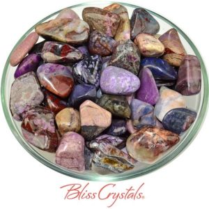 Shop Sugilite Stones & Crystals! 1 SUGILITE + Bustamite + Richterite Tumbled Stone Healing Crystal and Stone #ST43 | Natural genuine stones & crystals in various shapes & sizes. Buy raw cut, tumbled, or polished gemstones for making jewelry or crystal healing energy vibration raising reiki stones. #crystals #gemstones #crystalhealing #crystalsandgemstones #energyhealing #affiliate #ad