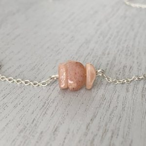 Shop Sunstone Necklaces! Sterling Sunstone Necklace – Raw Sunstone Jewelry – Chakra Necklace – Tiny Crystal Necklace – Boho Beach Necklace – Peach Sunstone Jewelry   Natural genuine Sunstone necklaces. Buy crystal jewelry, handmade handcrafted artisan jewelry for women.  Unique handmade gift ideas. #jewelry #beadednecklaces #beadedjewelry #gift #shopping #handmadejewelry #fashion #style #product #necklaces #affiliate #ad