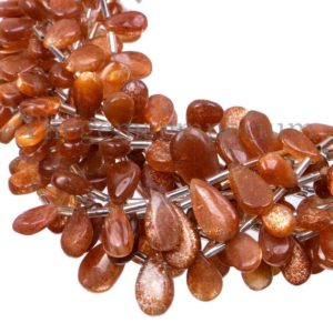 Shop Sunstone Bead Shapes! Sunstone Smooth Pear Shape Beads, Sunstone Pear Beads,  Sunstone Beads, Sunstone Smooth Beads, Sunstone Plain Pear Beads, Gemstone Beads | Natural genuine other-shape Sunstone beads for beading and jewelry making.  #jewelry #beads #beadedjewelry #diyjewelry #jewelrymaking #beadstore #beading #affiliate #ad