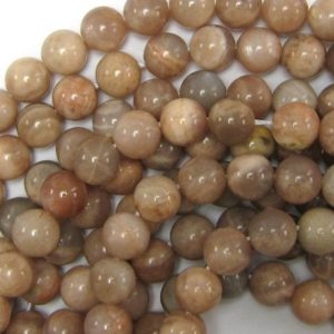 "Shop Sunstone Round Beads! 10mm sunstone round beads 15"" strand 33809 