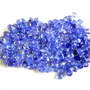 Shop Tanzanite Stones & Crystals! 10pcs Lot 4mm 100% Natural Blue Tanzanite (10 Pcs) Round Cabochon Gemstone… | Natural genuine stones & crystals in various shapes & sizes. Buy raw cut, tumbled, or polished gemstones for making jewelry or crystal healing energy vibration raising reiki stones. #crystals #gemstones #crystalhealing #crystalsandgemstones #energyhealing #affiliate #ad
