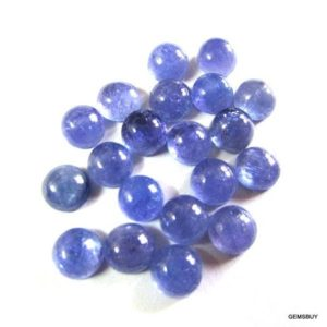 Shop Tanzanite Stones & Crystals! 5 Pcs Lot 7mm Tanzanite Cabochon Round 100% Natural Tanzanite Loose Gemstone Calibrated Size Cabochon | Natural genuine stones & crystals in various shapes & sizes. Buy raw cut, tumbled, or polished gemstones for making jewelry or crystal healing energy vibration raising reiki stones. #crystals #gemstones #crystalhealing #crystalsandgemstones #energyhealing #affiliate #ad