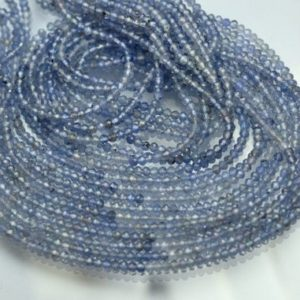 Shop Tanzanite Faceted Beads! 13 Inch strand,AAA Quality,Natural Tanzanite Faceted Rondelles.2.4mm | Natural genuine faceted Tanzanite beads for beading and jewelry making.  #jewelry #beads #beadedjewelry #diyjewelry #jewelrymaking #beadstore #beading #affiliate #ad