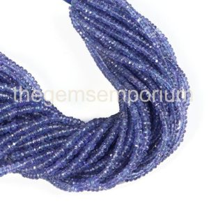 Shop Tanzanite Faceted Beads! Tanzanite Faceted Rondelle Beads, Tanzanite Faceted Beads, Tanzanite Rondelle Beads, Tanzanite Beads, Tanzanite Cutting Beads, Tanzanite | Natural genuine faceted Tanzanite beads for beading and jewelry making.  #jewelry #beads #beadedjewelry #diyjewelry #jewelrymaking #beadstore #beading #affiliate #ad