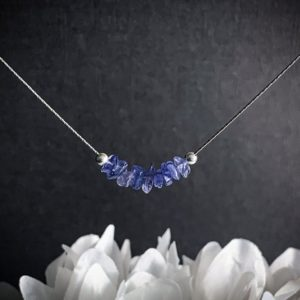 Shop Tanzanite Necklaces! Raw Tanzanite Necklace, Aura Cleansing, anxiety crystals, December Birthstone | Natural genuine Tanzanite necklaces. Buy crystal jewelry, handmade handcrafted artisan jewelry for women.  Unique handmade gift ideas. #jewelry #beadednecklaces #beadedjewelry #gift #shopping #handmadejewelry #fashion #style #product #necklaces #affiliate #ad
