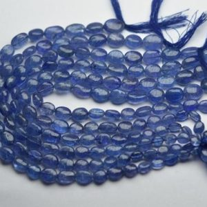 Shop Tanzanite Bead Shapes! 8 Inches Strand,Finest Quality,Natural Tanzanite Smooth Oval Beads,Size 6-9mm | Natural genuine other-shape Tanzanite beads for beading and jewelry making.  #jewelry #beads #beadedjewelry #diyjewelry #jewelrymaking #beadstore #beading #affiliate #ad