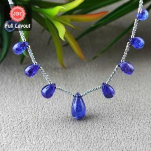 Shop Tanzanite Bead Shapes! Natural Tanzanite 10.5-18mm Smooth Drops Shape Gemstone Beads / Approx. 9 Pieces On 8 Inch Long Layout / Jbc-et-156784 | Natural genuine other-shape Tanzanite beads for beading and jewelry making.  #jewelry #beads #beadedjewelry #diyjewelry #jewelrymaking #beadstore #beading #affiliate #ad