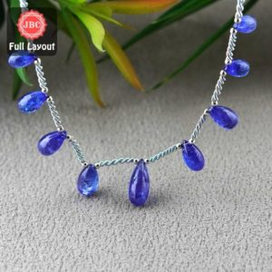 Shop Tanzanite Bead Shapes! Natural Tanzanite 10-16mm Smooth Drops Shape Gemstone Beads / Approx. 9 Pieces on 8 Inch Long Layout / JBC-ET-156787 | Natural genuine other-shape Tanzanite beads for beading and jewelry making.  #jewelry #beads #beadedjewelry #diyjewelry #jewelrymaking #beadstore #beading #affiliate #ad