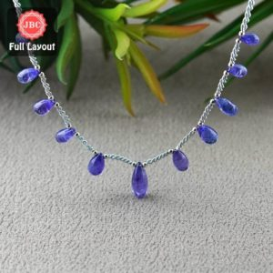 Shop Tanzanite Bead Shapes! Natural Tanzanite 8.5-14.5mm Smooth Drops Shape Gemstone Beads / Approx. 11 Pieces on 8 Inch Long Layout / JBC-ET-156799 | Natural genuine other-shape Tanzanite beads for beading and jewelry making.  #jewelry #beads #beadedjewelry #diyjewelry #jewelrymaking #beadstore #beading #affiliate #ad