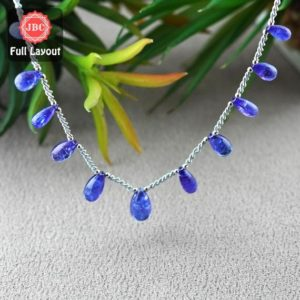 Shop Tanzanite Bead Shapes! Natural Tanzanite 9.5-14.5mm Smooth Drops Shape Gemstone Beads / Approx. 11 Pieces On 9 Inch Long Layout / Jbc-et-156792 | Natural genuine other-shape Tanzanite beads for beading and jewelry making.  #jewelry #beads #beadedjewelry #diyjewelry #jewelrymaking #beadstore #beading #affiliate #ad