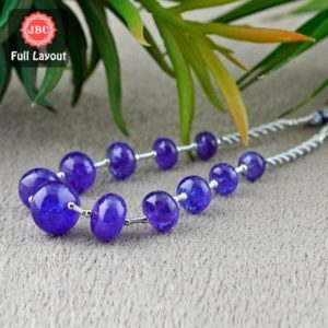 Shop Tanzanite Rondelle Beads! Natural Tanzanite 8-14.5mm Smooth Rondelle Shape Gemstone Beads / Approx. 11 Pieces on 8 Inch Long Layout / JBC-ET-156702 | Natural genuine rondelle Tanzanite beads for beading and jewelry making.  #jewelry #beads #beadedjewelry #diyjewelry #jewelrymaking #beadstore #beading #affiliate #ad