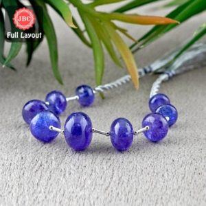 Shop Tanzanite Rondelle Beads! Natural Tanzanite 9.5-16mm Smooth Rondelle Shape Gemstone Beads / Approx. 9 Pieces on 8 Inch Long Layout / JBC-ET-156704 | Natural genuine rondelle Tanzanite beads for beading and jewelry making.  #jewelry #beads #beadedjewelry #diyjewelry #jewelrymaking #beadstore #beading #affiliate #ad