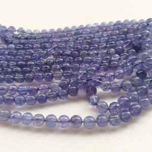 Shop Tanzanite Round Beads! 3.5-6mm Tanzanite Plain Round Beads, Natural Tanzanite Plain Round Balls, Tanzanite Beads For Jewelry (4IN To 16IN Options) – AGA15 | Natural genuine round Tanzanite beads for beading and jewelry making.  #jewelry #beads #beadedjewelry #diyjewelry #jewelrymaking #beadstore #beading #affiliate #ad