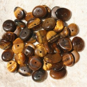 Shop Tiger Eye Chip & Nugget Beads! 10pc – stone beads – 8-14mm 4558550017734 pucks Chips Tiger eye | Natural genuine chip Tiger Eye beads for beading and jewelry making.  #jewelry #beads #beadedjewelry #diyjewelry #jewelrymaking #beadstore #beading #affiliate #ad