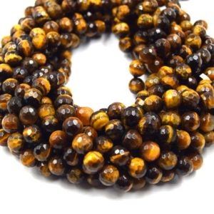 """Shop Tiger Eye Faceted Beads! Faceted Tiger Eye Beads   Blue Red Brown Golden Multi Tiger Eye Beads- 15"""" Strands – Natural Gemstone Beads – (6mm 8mm 10mm 12mm 14mm)   Natural genuine faceted Tiger Eye beads for beading and jewelry making.  #jewelry #beads #beadedjewelry #diyjewelry #jewelrymaking #beadstore #beading #affiliate #ad"""