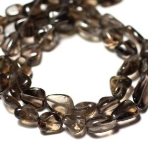 Shop Topaz Bead Shapes! Wire 34cm 35pc – stone beads – approx 7-12mm – 8741140012639 Olives smoky Topaz | Natural genuine other-shape Topaz beads for beading and jewelry making.  #jewelry #beads #beadedjewelry #diyjewelry #jewelrymaking #beadstore #beading #affiliate #ad