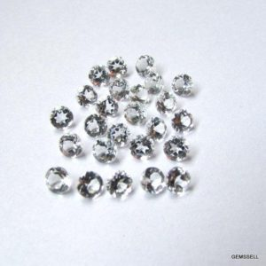 Shop Topaz Shapes! 10 piece 4mm White Topaz Faceted Round Loose Gemstone, White Topaz Round Faceted Loose Gemstone, White Topaz Faceted Round Gemstone   Natural genuine stones & crystals in various shapes & sizes. Buy raw cut, tumbled, or polished gemstones for making jewelry or crystal healing energy vibration raising reiki stones. #crystals #gemstones #crystalhealing #crystalsandgemstones #energyhealing #affiliate #ad
