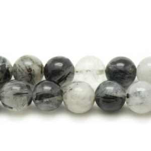 Shop Tourmaline Bead Shapes! 2PC – stone beads – Tourmaline Quartz balls 14mm – 4558550035042 | Natural genuine other-shape Tourmaline beads for beading and jewelry making.  #jewelry #beads #beadedjewelry #diyjewelry #jewelrymaking #beadstore #beading #affiliate #ad