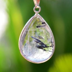 Tourmaline Quartz Pendant – Crystal Drop Pendant – Healing Pendant – Spiritual Jewelry | Natural genuine Tourmaline pendants. Buy crystal jewelry, handmade handcrafted artisan jewelry for women.  Unique handmade gift ideas. #jewelry #beadedpendants #beadedjewelry #gift #shopping #handmadejewelry #fashion #style #product #pendants #affiliate #ad