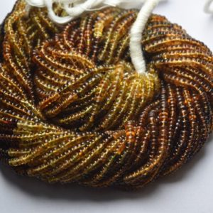 Shop Tourmaline Rondelle Beads! 14 Inches Strand,Natural Petro Tourmaline Smooth Rondelles Beads.4mm | Natural genuine rondelle Tourmaline beads for beading and jewelry making.  #jewelry #beads #beadedjewelry #diyjewelry #jewelrymaking #beadstore #beading #affiliate #ad